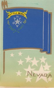 NEVADA , State Flag , 40-50s ; Serigraph