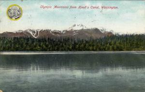 Olympic Mountains from Hood's Canal,Washington,PU-1909