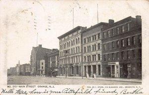 Main Street, Orange, New Jersey, Early Postcard, Undivided Back, Used