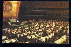 United Nations Postcard, New York/NY, Pope John Paul II, General Assembly