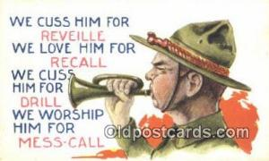 Artist Bernhard Wall Military Postcard Post Card Old Vintage Antique Artist B...