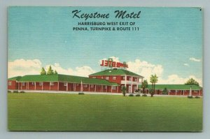 Keystone Motel Hotel Harrisburg Turnpike Route 11 Pennsylvania PA Postcard