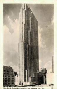 USA RCA Building Rockefeller Center RPPC 01.83
