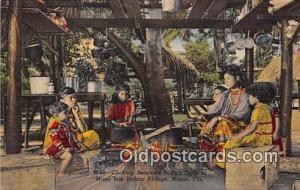 Seminole Indians Postcard Miami, FL, USA Cooking Seminole Indian Style