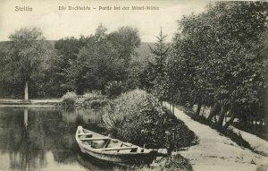 poland, SZCZECIN STETTIN, Die Buchheide, Partie bei der Mittel-Mühle (1910s)
