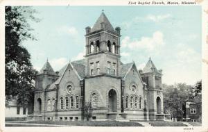 Postcard First Baptist Church Macon Missouri