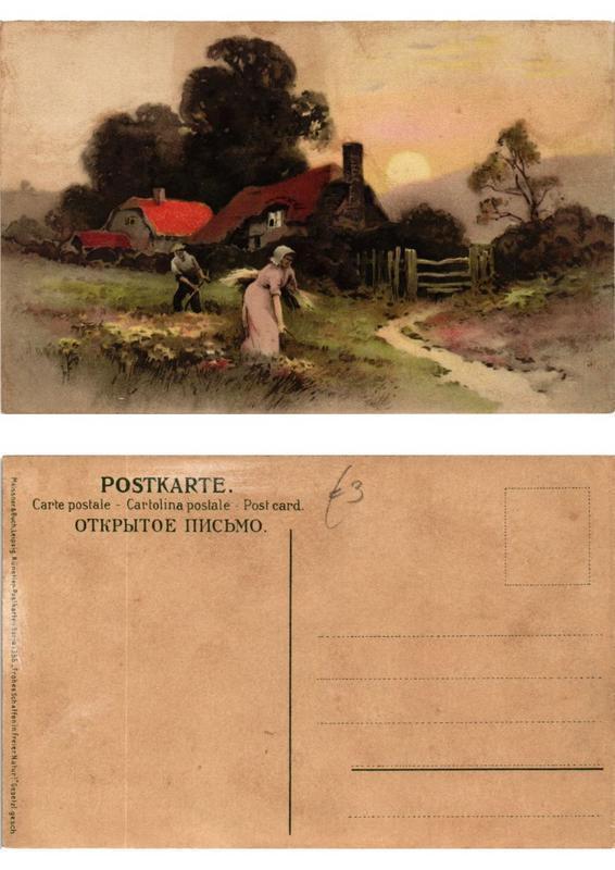 CPA Frohes Schaffen in freier Natur Meissner & Buch Litho Serie 1355 (730499)