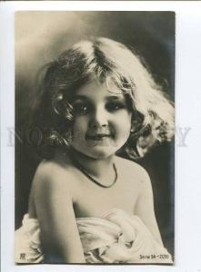 257745 NUDE Lovely GIRL Curly Vintage PHOTO RPH #54-2059 PC