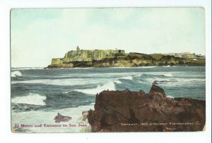 Postcard El Morro and Entrance to San Juan Harbor Porto Rican View No.1 VPC01.
