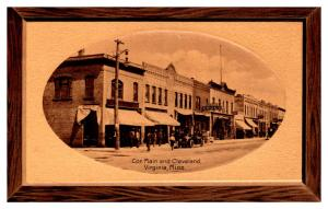 Minnesota Virginia , Main and Cleveland St. , Wood Picture Frame RPC DPO 1