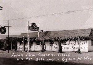 UT - US Hwy 91, Salt Lake-Ogden. Ma's & Pa's Diner, Gas ca. 1940's  (5.75 X ...