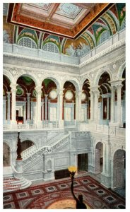 1910's Library Of Congress Central Stair Hall Washington DC PC2020