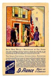 Advertising - La France Cleanser. Sesqui-Centennial Exposition, 1926 in Phila.