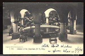 Interior of the New York City Aquarium UDB 1905