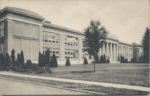 Madison High School, Madison, New Jersey, Early Postcard, Unused