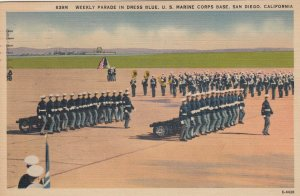 SAN DIEGO , California , 1930-40s ; U.S. Marines , Dress Parade