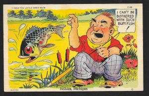 I Toss the Little Ones Back Fishing Humor used c1939