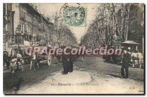 Postcard Old Marseille Cours Belzunce