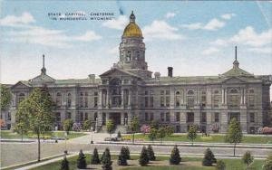 Wyoming Cheyenne State Capitol In Wonderful Wyoming 1952