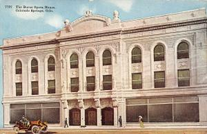 Colorado Springs CO~Vintage Car at Burns Opera House~Dog Slinks By Theatre~1912