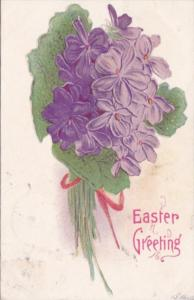Easter Greeting With Purple Flowers 1908