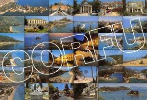 Greece Corfu Multi View Postcard GQ9