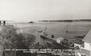RPPC View of Boothbay Harbor, Maine from McKown Hill