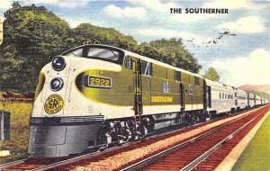 The Southerner Serves The South Railroad Train 1958 Linen Postcard