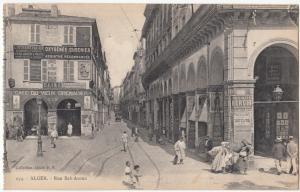 Algeria, Algiers, ALGER, Rue Bab-Azoun, unused Postcard