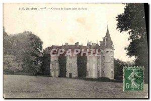 Postcard Old Guichen Chateau Bagatz Riviera Park