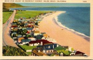 California Malibu Beach Movie Star Colony On Roosevelt Highway