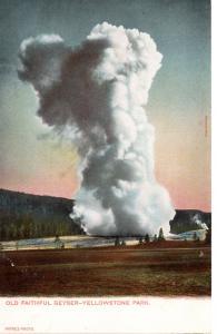 Old Faithful Geyser, Yellowstone National Park, pre-1907