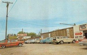 CALDWELL, Idaho ID   GHOST TOWN~50's Logo Station Wagon  ROADSIDE  1962 Postcard