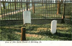 Harrisburg PA~c1748 Fresh Looking Mounded Grave of John Harris~Front Street~1905