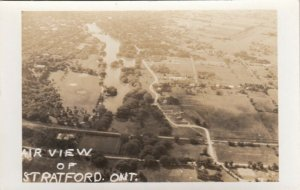 RP: STRATFORD , Ontario , Canada , 1930s-40s ; Air View