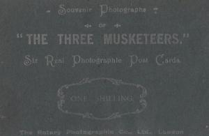 The Three Muskateers Home Made Antique Play Theatre Old Advertising Postcard