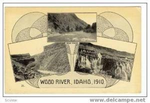 3-Scenic Views, Wood River, Malad Canyon, Thousand Springs, Idaho, 1910