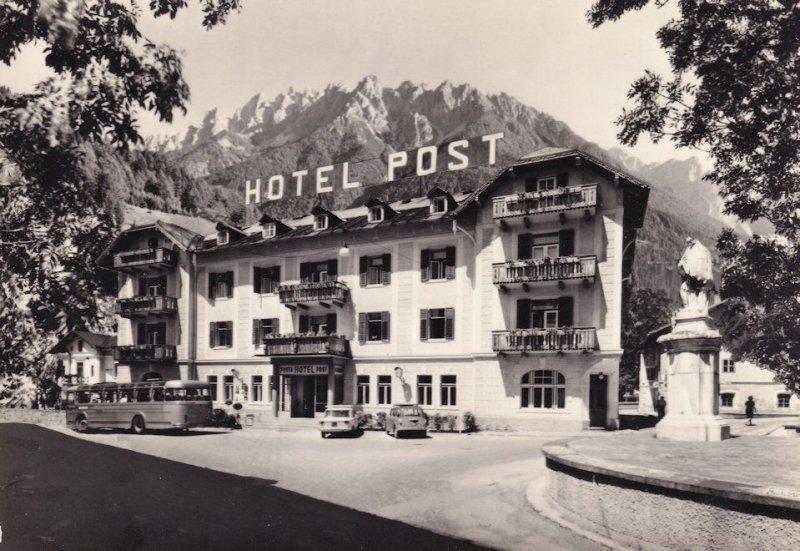 Hotel Post Posta Dobbiaco Italy Real Photo Postcard