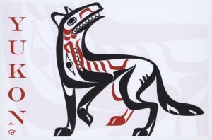 Yukon YT Indigenous First Nations Peoples Art Artwork Animal Unused Postcard D31