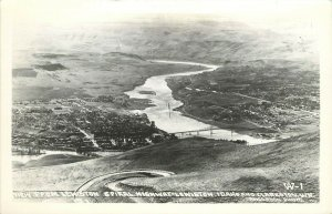 Wesley Andrews RPPC 1; View from Spiral Highway, Lewiston ID & Clarkston WA