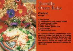 Vintage Postcard Tortilla Oven Baked Recipe Delicious Healthy Table Dish