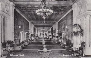 California Los Angeles Biltmore Hotel Lobby Real Photo