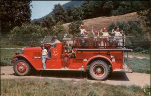 Hope NJ Land of Make Believe Fire Engine c1950s-60s Postcard