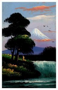 20013   Japan Mt Fuji  Hand Painted Oil Art
