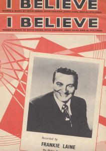 I Believe Frankie Laine 1950s 2x Sheet Music