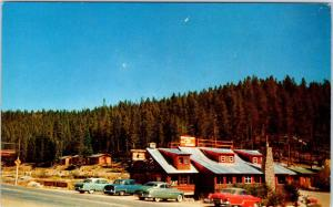 GRAND LAKE, CO Colorado  Rustic  SOUTHWAY LODGE  c1950s Cars  Roadside Postcard