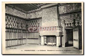 Pierrefonds Old Postcard The castle lord Bedroom