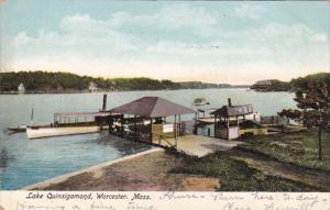 Massachusetts Worcester Lake Quinsigamond Boat Dock 1907