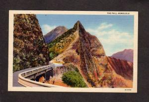 HI The Nuuanu Pali Road Waikiki Honolulu Hawaii Postcard Linen PC