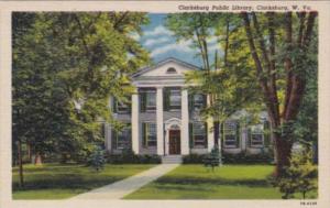 Public Library Clarksburg West Virginia Curteich